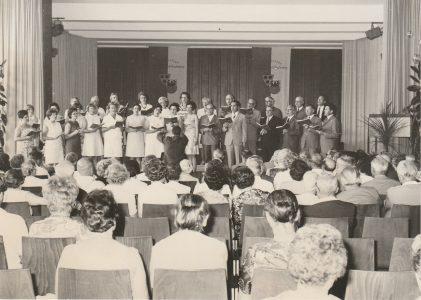 Bühne des Otto-Hahn-Gymnasium in Springe 1970