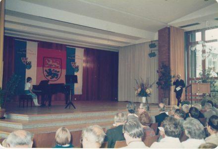 Bühne des Otto-Hahn-Gymnasium 1978 in Springe