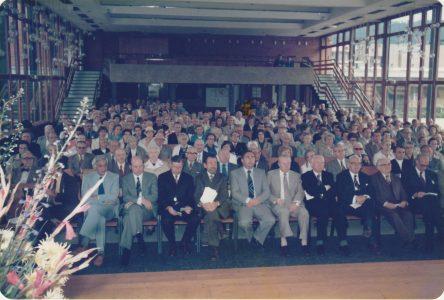 Zuschauer im Otto-Hahn-Gymnasium 1978 in Springe